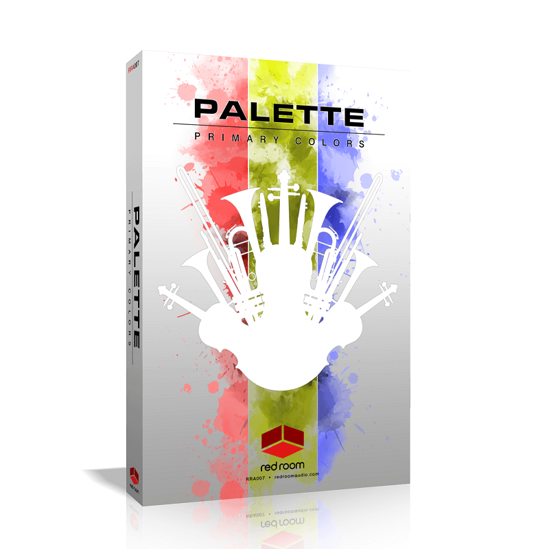 palette primary colors red room audio